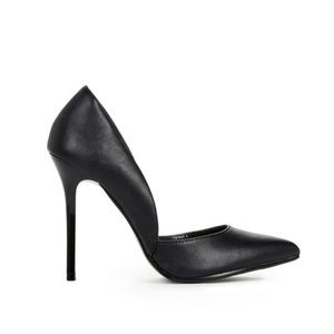 JustFab Madison black d'orsay heels